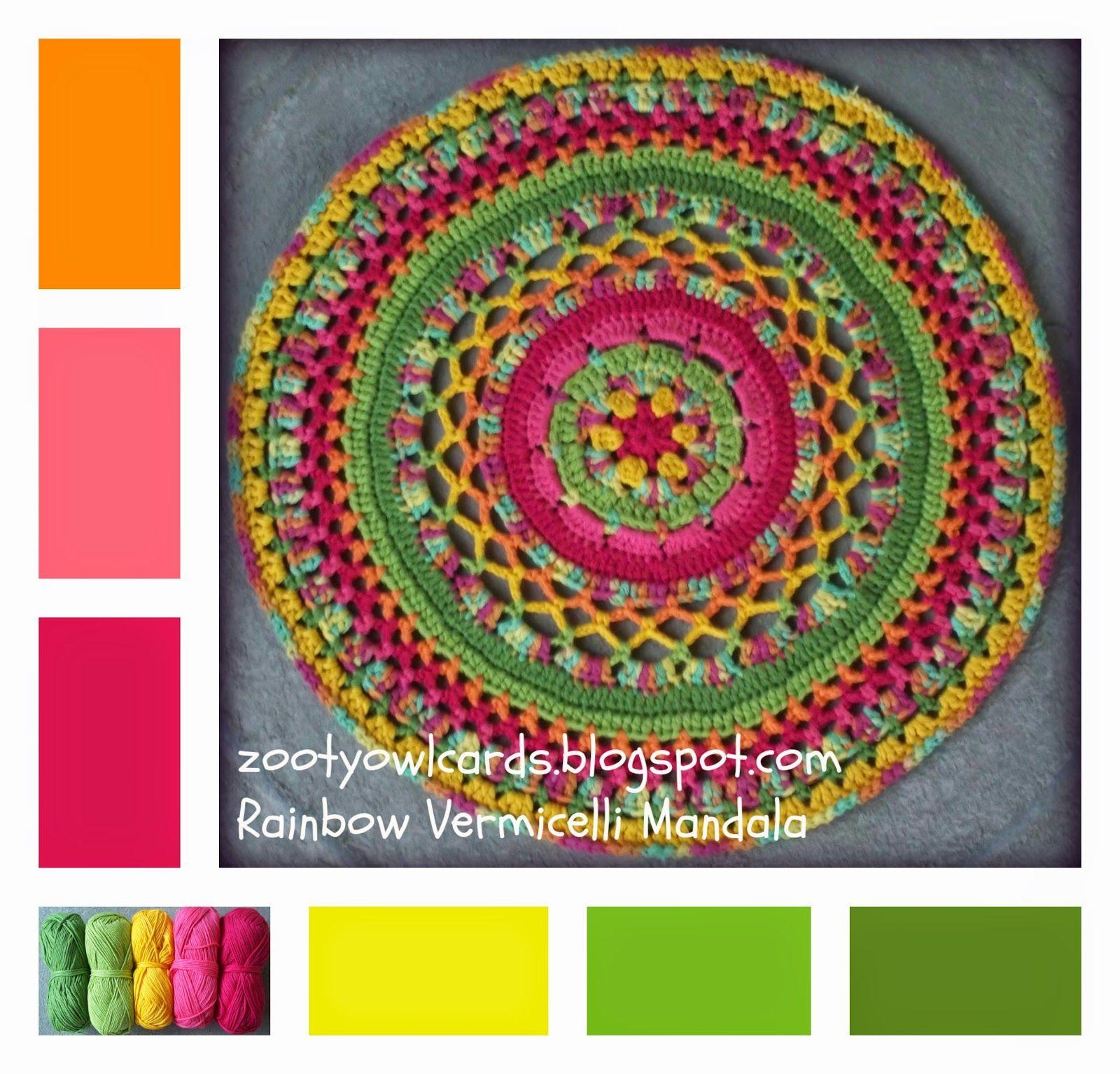 crochet mandala | Crochet | Pinterest | Mandalas, Fideos y Patrones