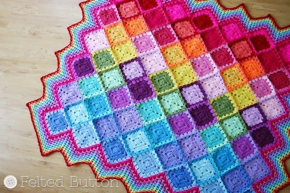 Happy Harlequin Blanket Free Crochet Pattern By Susan Carlson Of