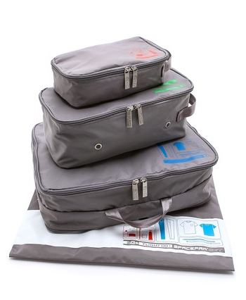 grey travel pack set