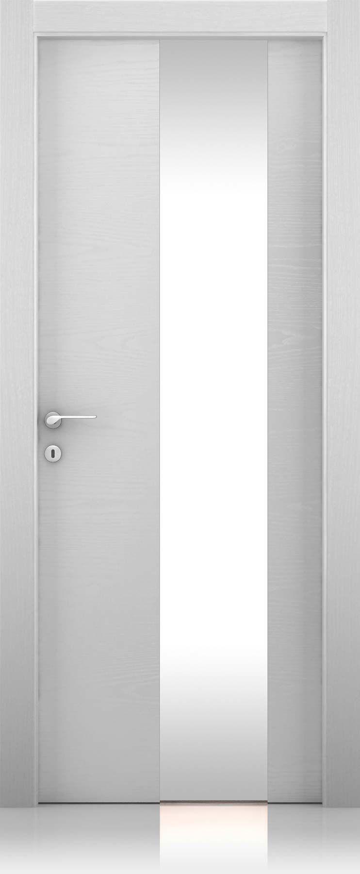 Ferrero Legno Porte / Collezioni FL / Equa vetro / Trame bianco ...