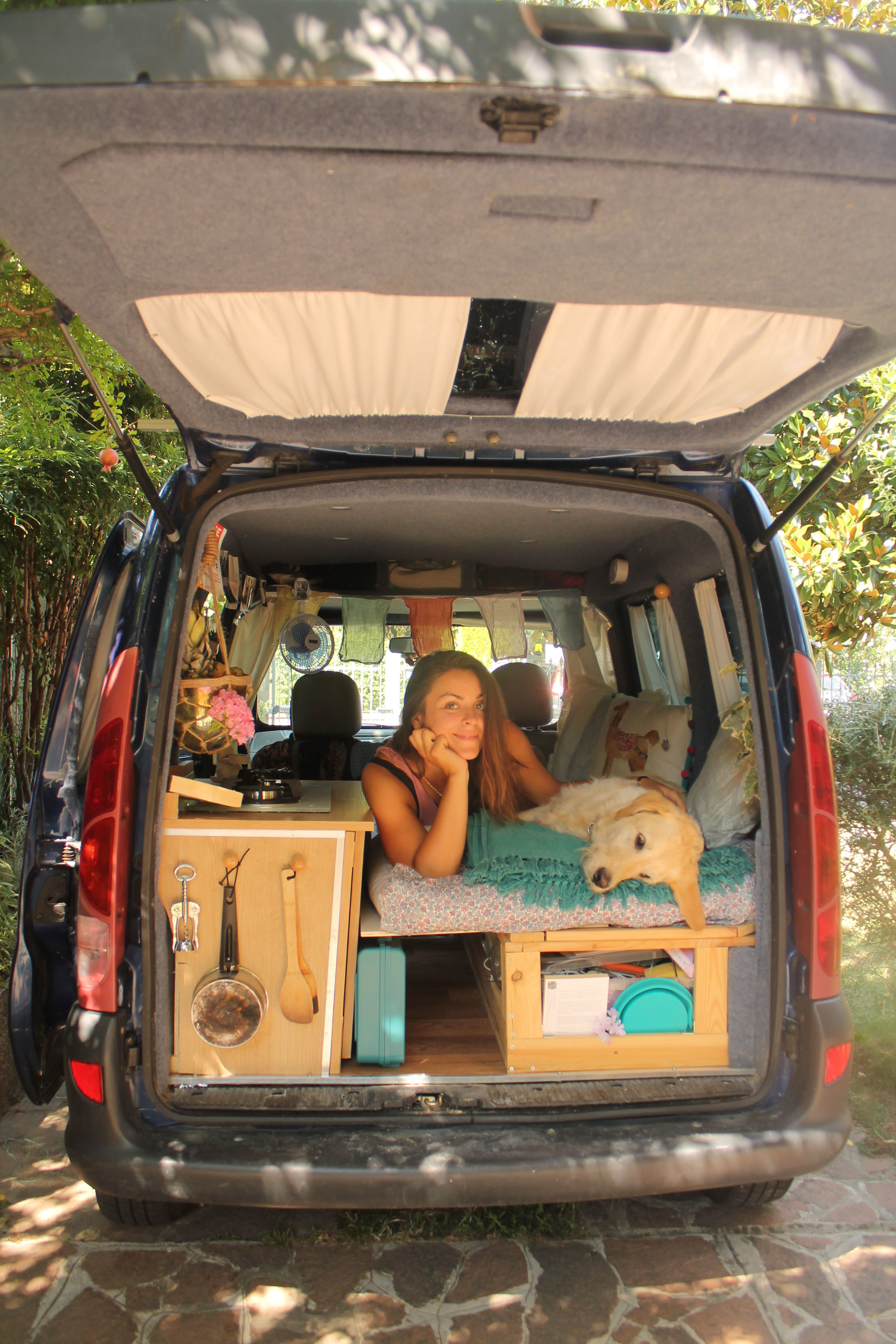 Describing Herself As A Full Time Nomad Marina Left Her Job In 2016 And Converted Van Order To Travel With Favourite Canine Companion