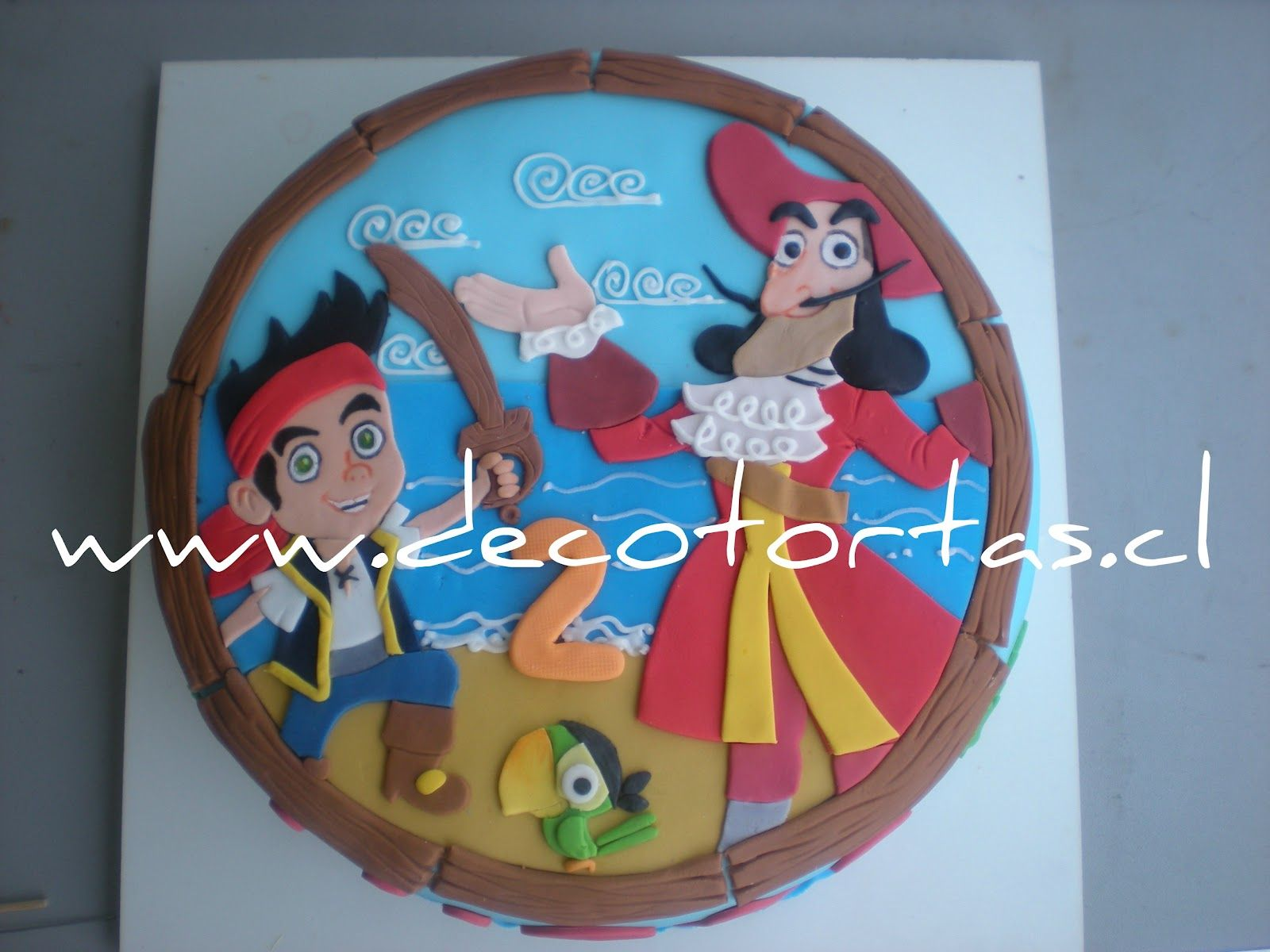 Decoraci n jake y los piratas de nunca jam s pictures to pin on - Decotortas Jake Y Los Piratas De Nunca Jam S