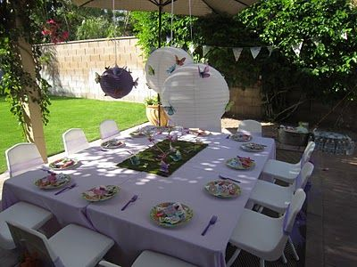 Lovely Butterfly party!!! May do this for my Girl next year.