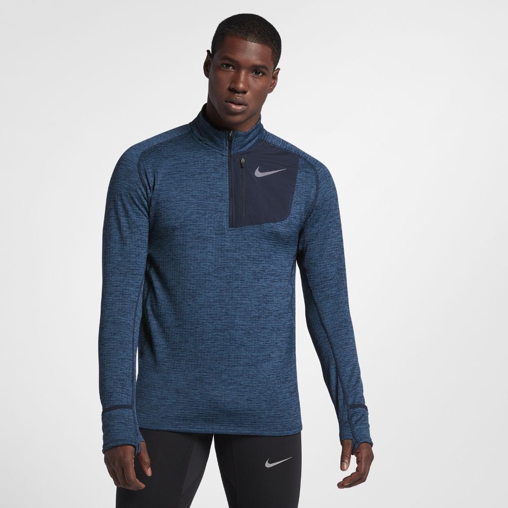 98b194ec Nike Therma Sphere Element Men's Long Sleeve Half-Zip Running Top Size