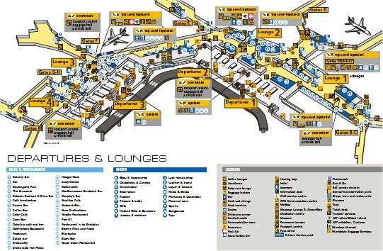Schiphol Airport Map Free Downloadable Map Of Amsterdam Airport