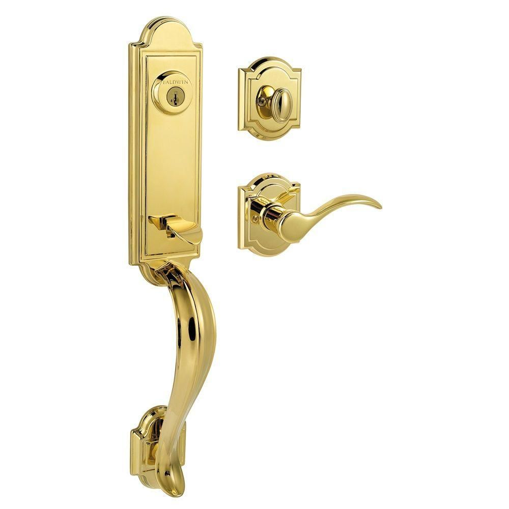Prestige Avendale Single Cylinder Polished Brass Exterior Handleset ...
