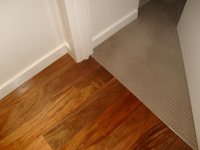 Where carpet meets timber floors You can ask them to lay ...