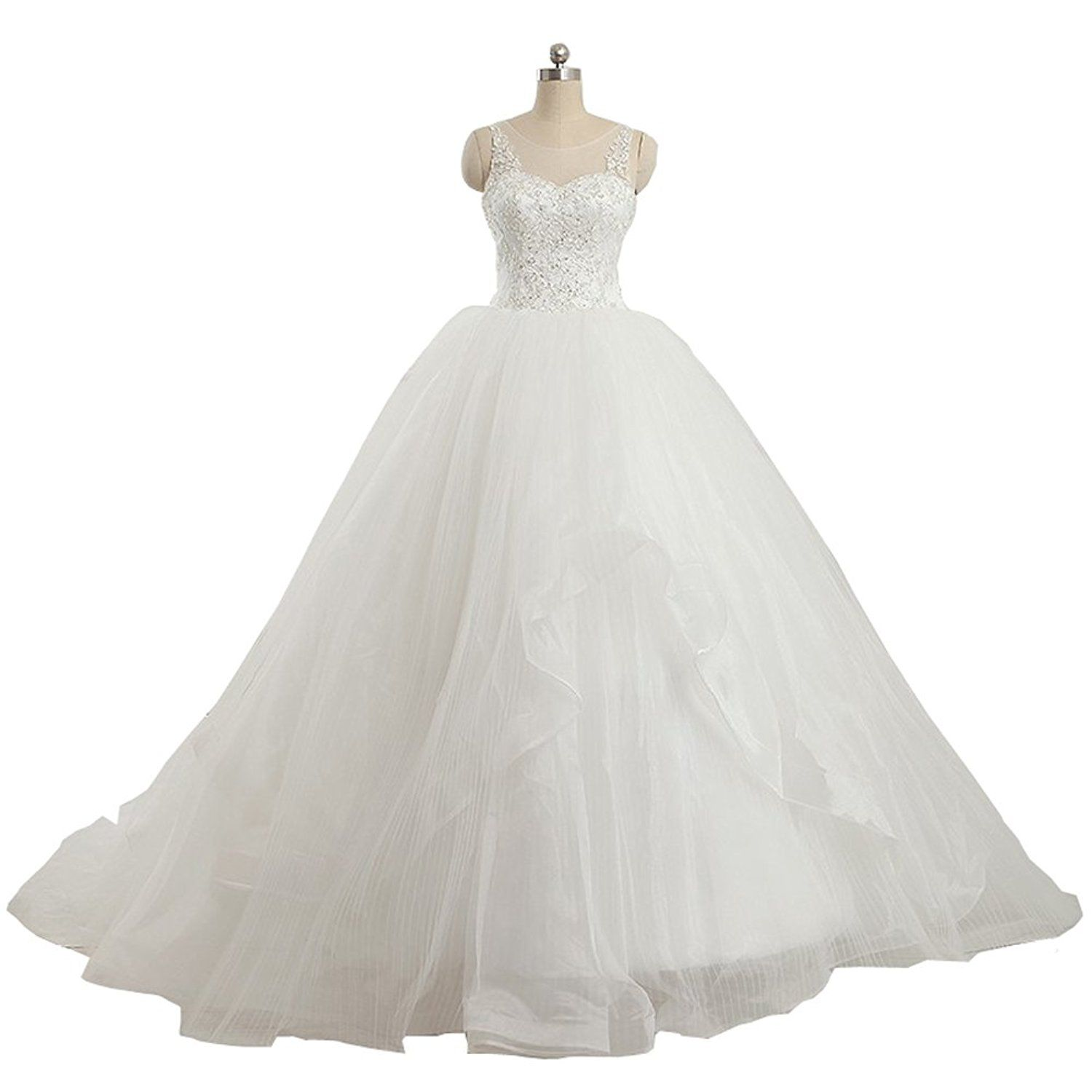8b98d187c99 YIPEISHA Wedding Dress Ball Gown Tulle Bridal Beaded Applique Wedding Gown    Unbelievable item right here!   wedding dresses