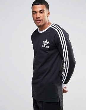Adidas Originals - adicolor B10657 - Long T-shirt à manches longues - Noir