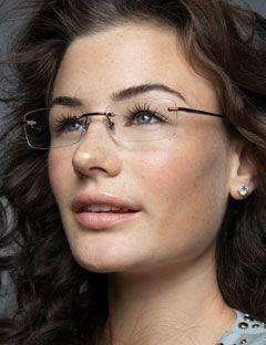 9c43877215  Rimless  Frames  makeup Eyeglasses For Women 2017