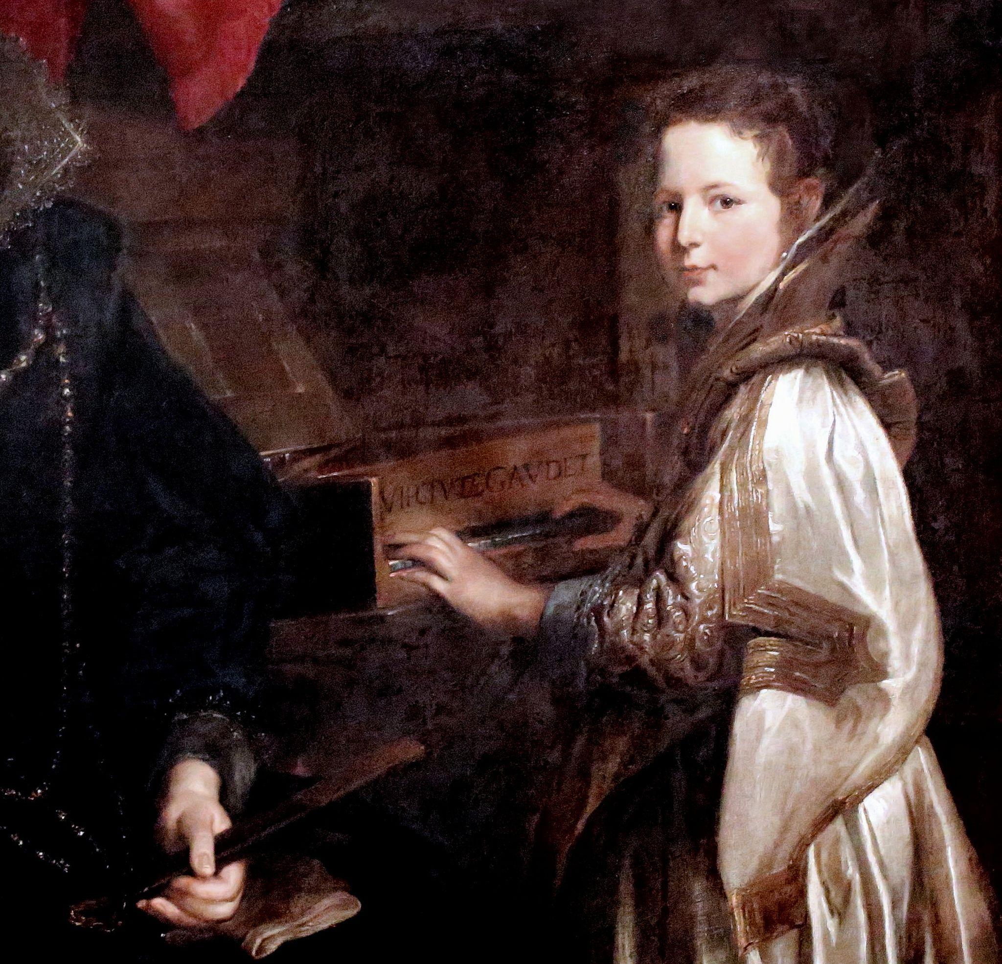 Antoon Van Dyck .1599 1641. Anvers et Londres. Portrait de Porzia Imperiale et de sa fille. Bruxelles. Musée Royaux des Beaux Arts de Belgique.