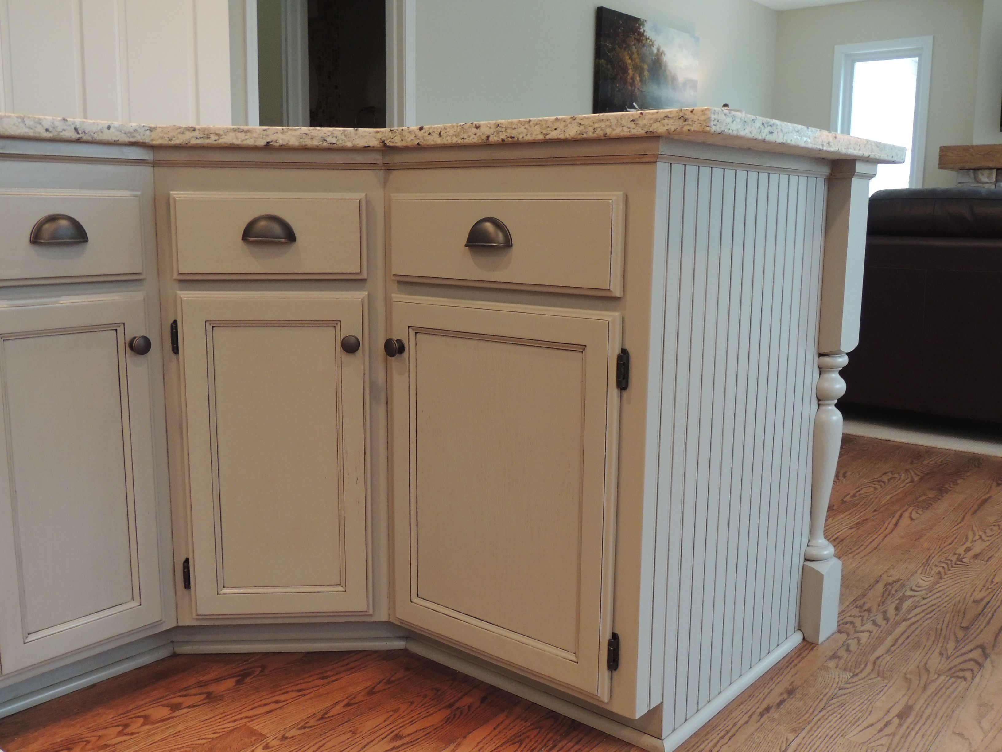 Kitchen Island Cabinets Both Sides Kitchen Cabinet Refinishing Repainted Kitchen Island