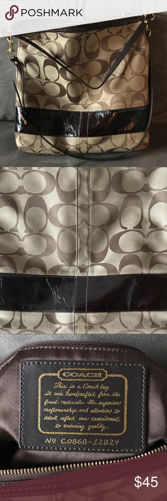 Authentic Coach large messenger bag purse Genuine Coach purse (868-12824)  in great cc21daafb8b7e