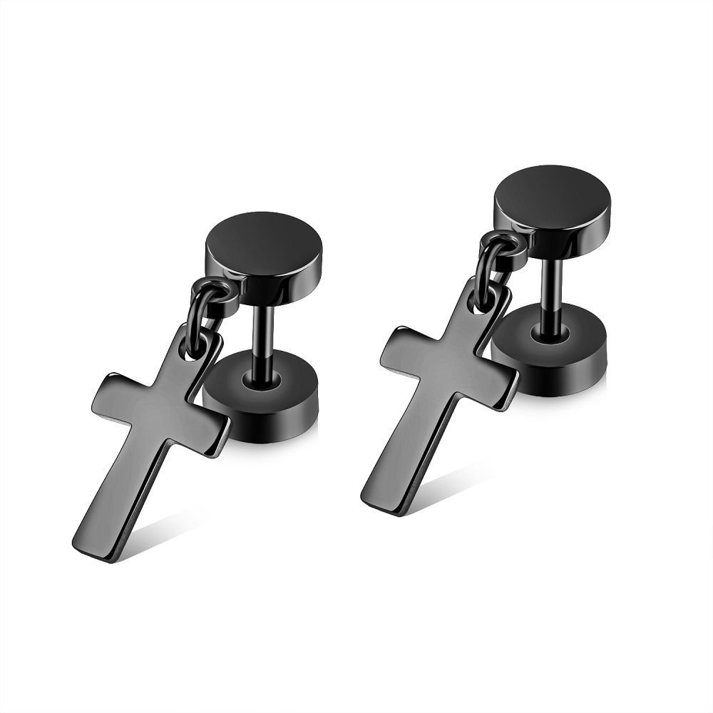 silver bling square black earrings white micropave q stud and jewelry cz mens fashion yly