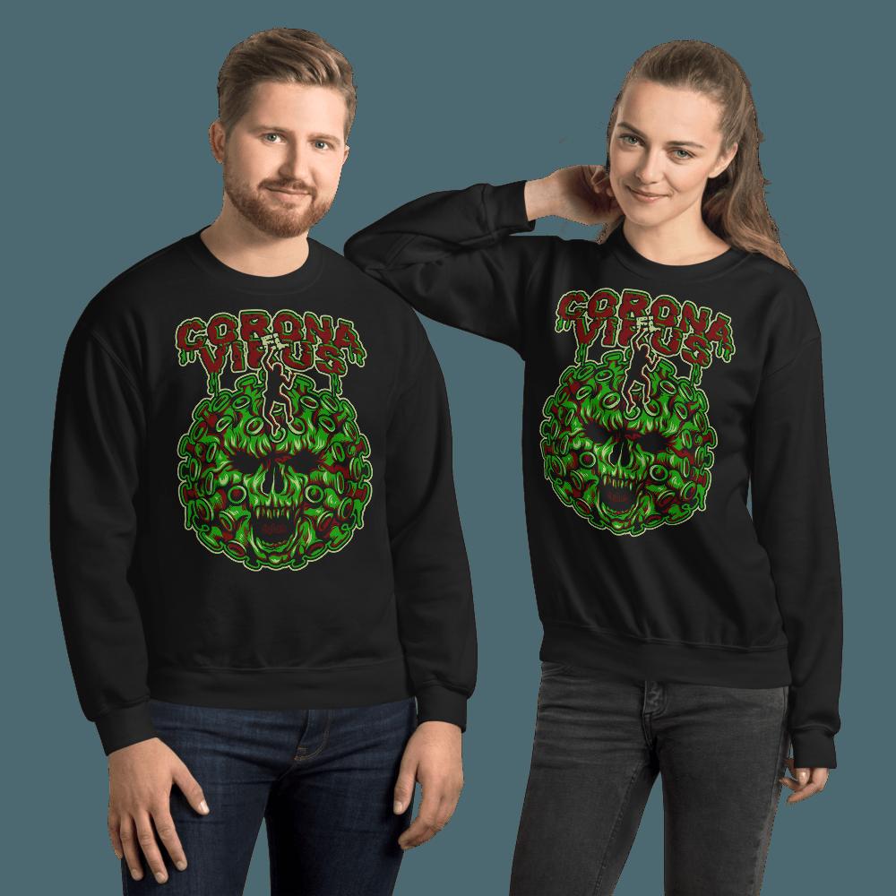 Corona El Virus | Unisex Sweatshirt - Black / L