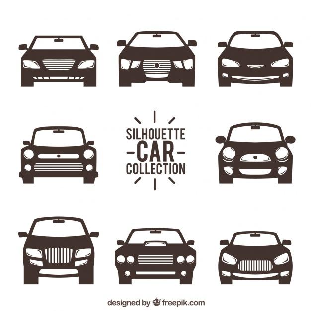 車のシルエットの正面図 Car Silhouette Car Vector Car Front