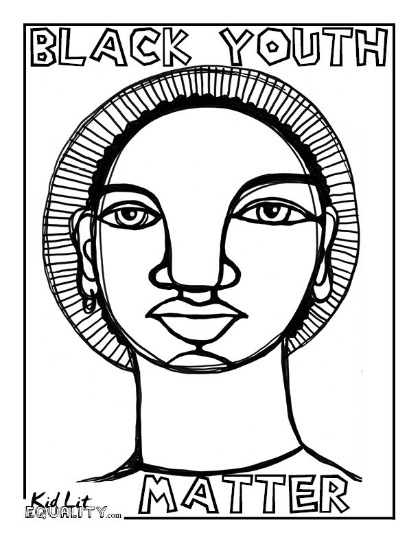 Coloring Page Maya Angelou. Black Youth Matter Coloring Pages  People Power