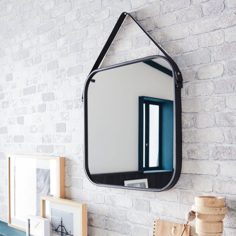 Un Miroir Barbier Carre Home In 2019 Miroir Carre Miroir Barbier