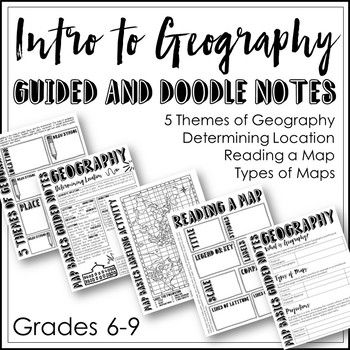 Geography Guided and Doodle Notes (Intro to Geography