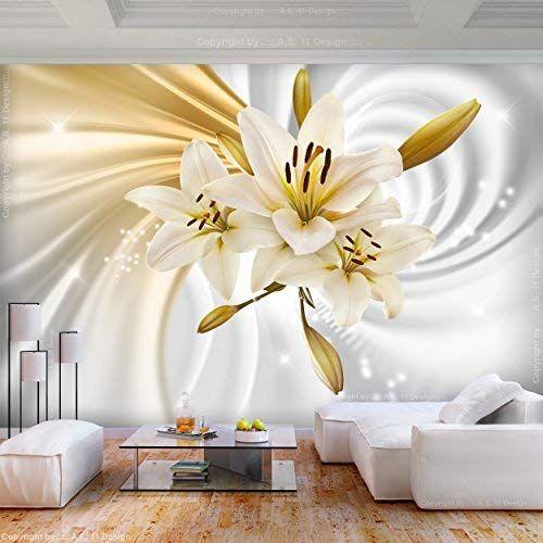 Decomonkey Fototapete Selbstklebend Blumen Lilien 343x256 Cm Xl Selbstklebende Tapeten Wand Fototapeten Decor T Fototapete Wandtapete Fototapete Blumen