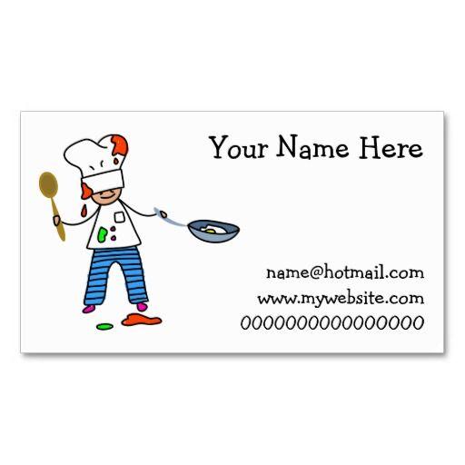 Chef Kid Business Card Business Cards Business And Template - Kid business card template