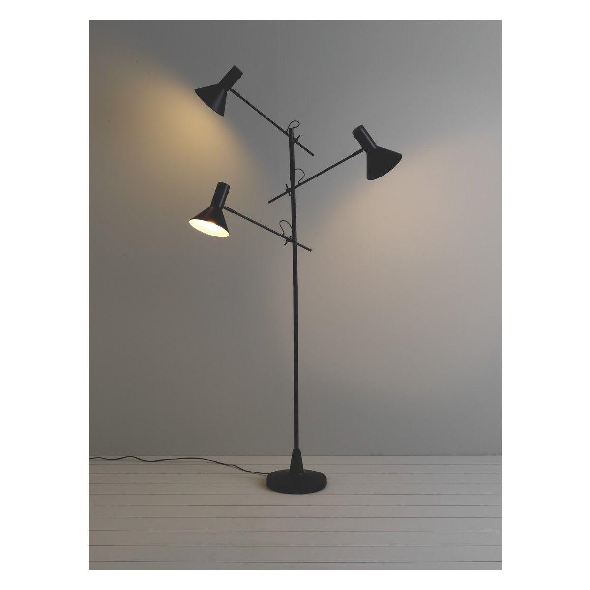 NYX Black 3 head metal floor lamp | Floor lamp, Metals and Lights