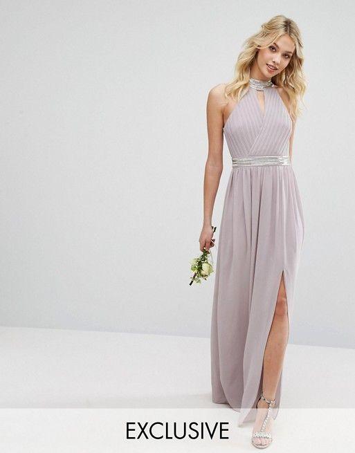 TFNC WEDDING Maxi Dress with Embellishment | Long Skater Dresses ...