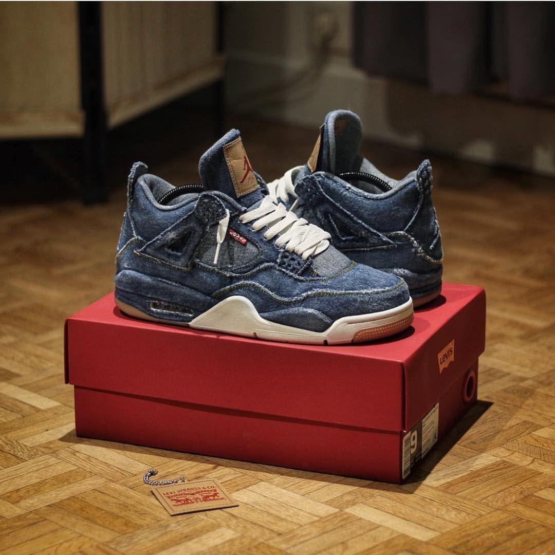 22a08ae2aac Levi's x Nike Air Jordan IV by @ki2nen #nike #air #jordan #levis ...