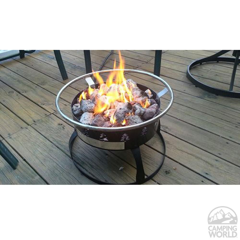 Redwood Portable Propane Fire Pit Camp Chef Gclogd Campfire Amp Outdoor Fireplaces Camping World With Images Homemade Fire Pit Propane Fire Pit Fire Pit Bbq