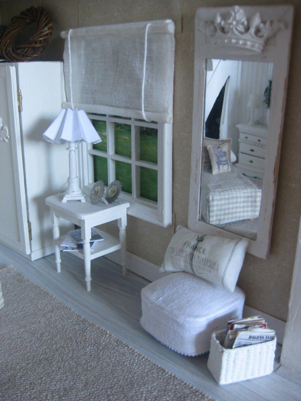 Miniaturas para casa de muñecas. Diorama de sala de estar ...