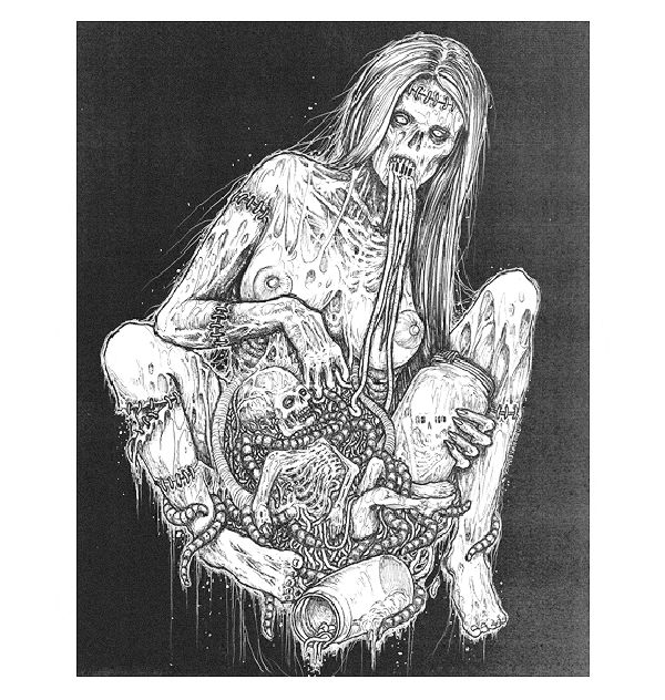 Zombie Sexocalypse – more (gut-wrenching) images @ http://www.juxtapoz.com/Erotica/zombie-sexocalypse – Illustration, Erotica, Zombie