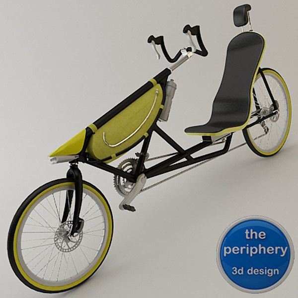 3d 3ds Bike Recumbent Bicycle Recumbent Bicycle Bicycle Tricycle Bike