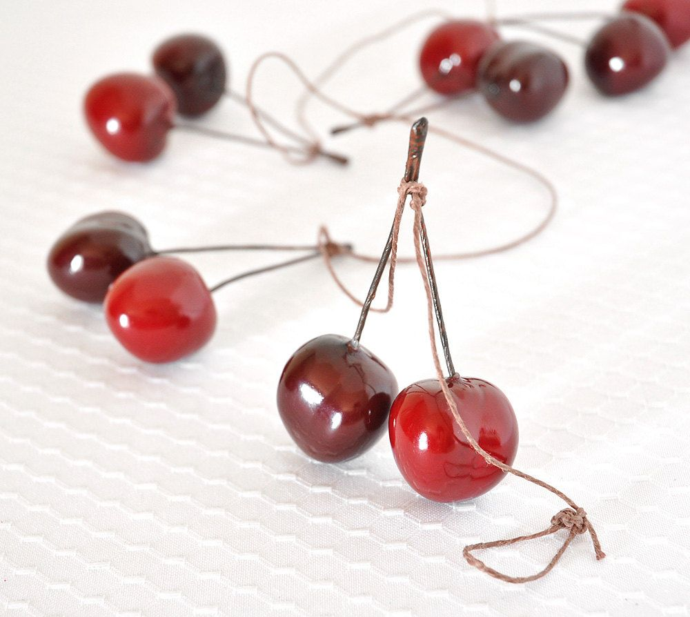 Sweet Cherry Garland Kitchen Red Fruit Home Decor For Summer Weddings And Birthday Parties