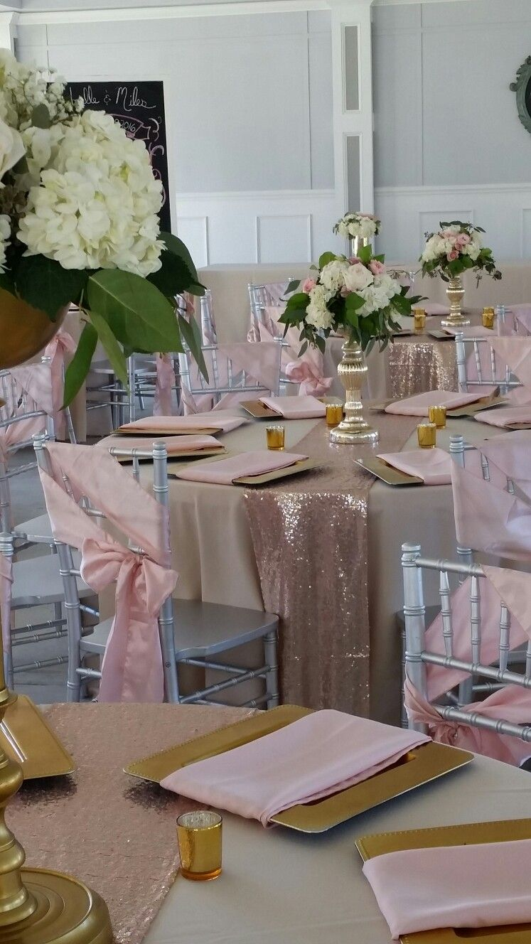 blush/gold wedding