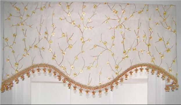"Bloom Cornice Valance in Ginger. 52""w x 16""l $74.99. To Order Call toll-free 877-722-1100"