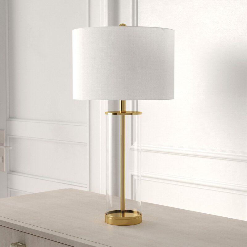 Cothran Glass 29 Table Lamp Reviews Joss Main Table Lamp Table Lamps Living Room Brass Table Lamps
