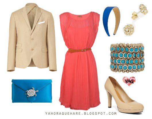 Blog De Moda Inspiración Y Tendencias Y Ahora Qué Me Pongo Con Un Vestido Color Salmón Vestidos Color Salmon Moda Tendencias