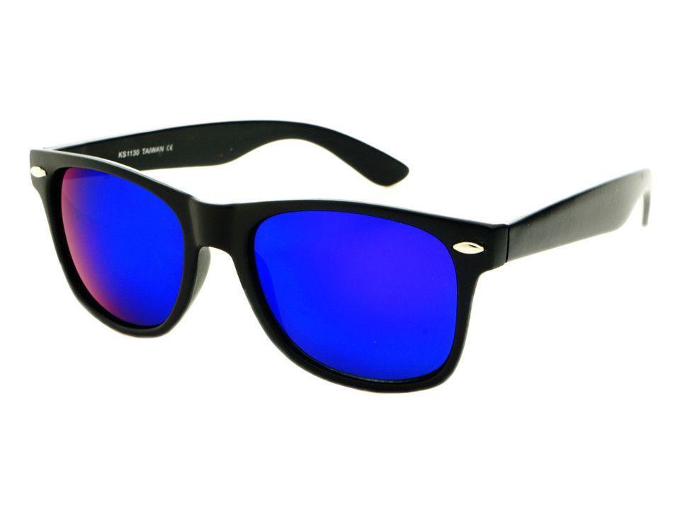 79a650a7e1a9b Purple Blue Mirror Lens Wayfarer Sunglasses Black W344 – FREYRS -  Beautifully designed