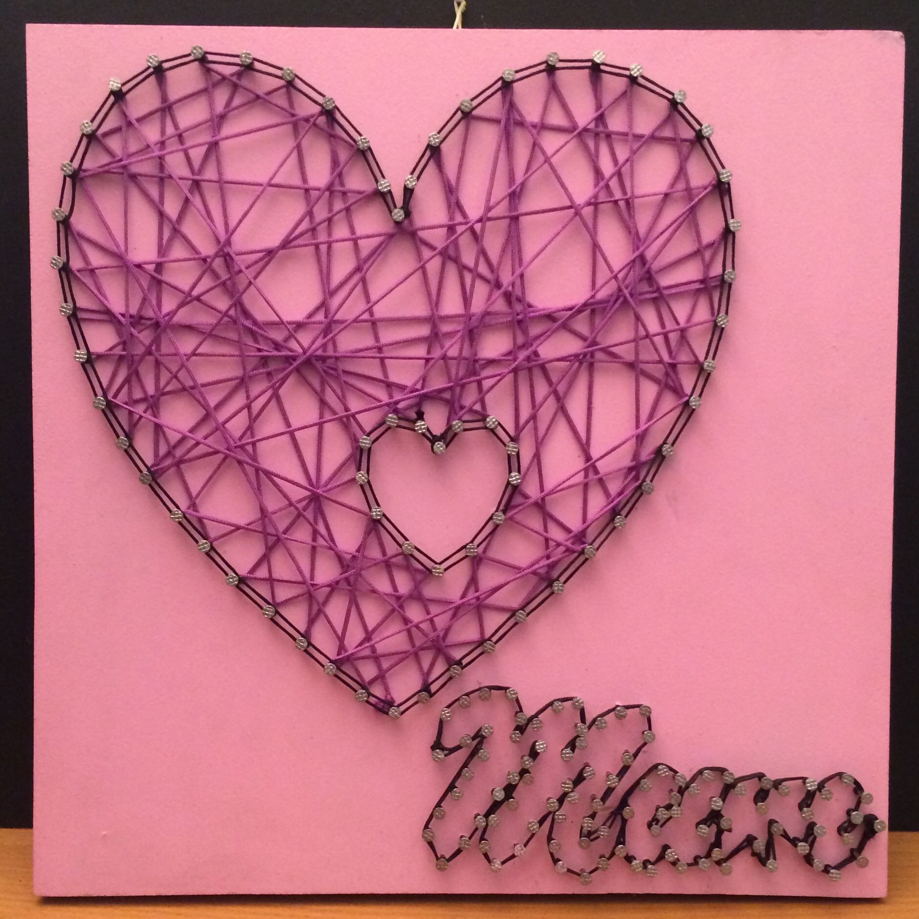 Mother's Day string art by Debbie