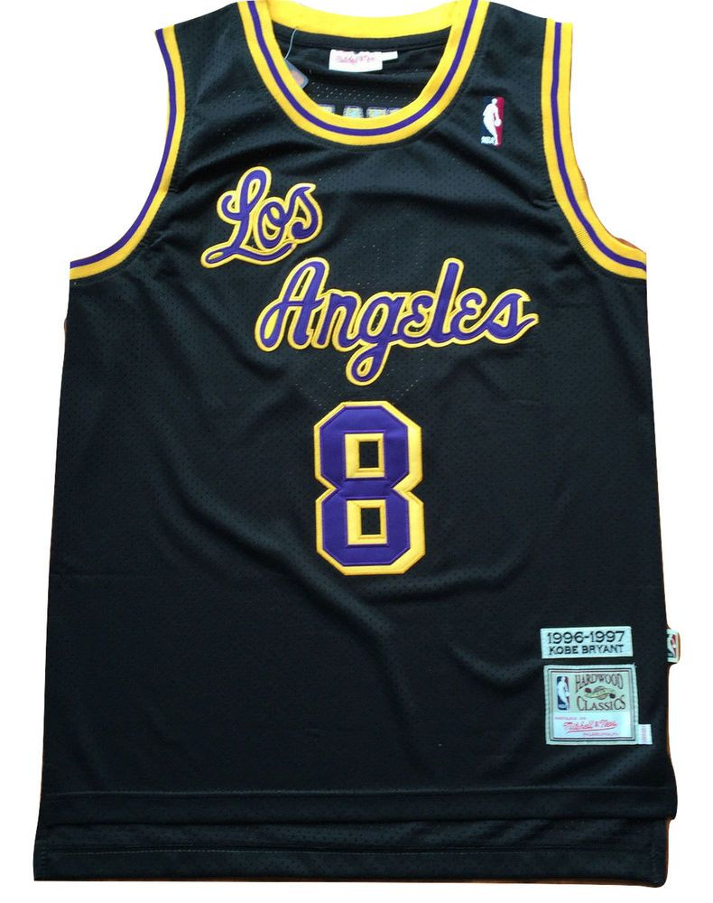 huge discount e6fef f1856 NBA Los Angeles Lakers Kobe Bryant Black Throwback Classic ...