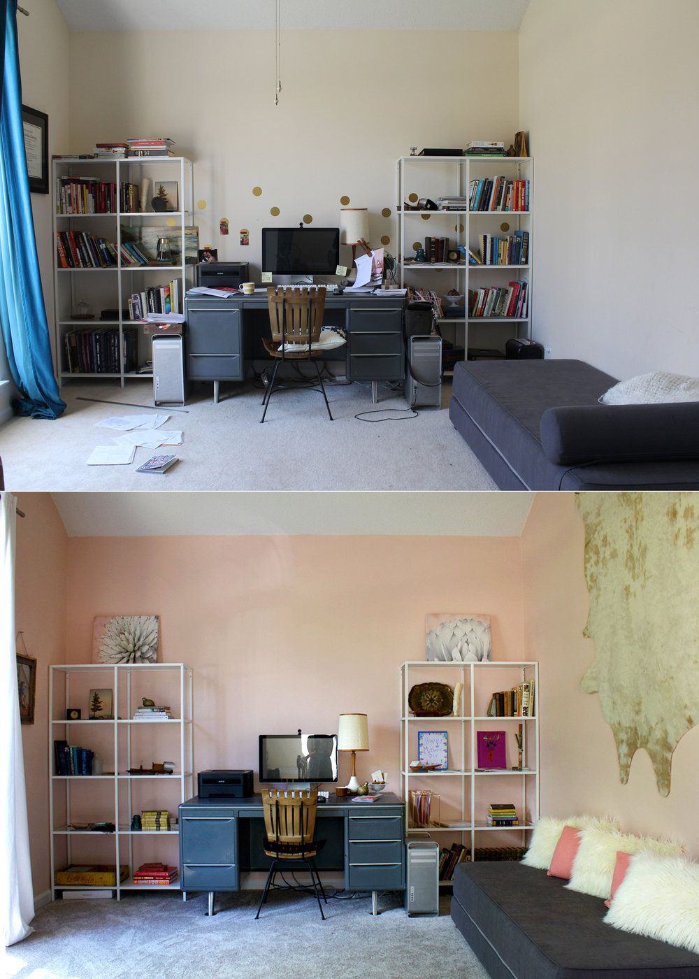 home office makeover. Plain Office A Blush Home Office Makeover In Sherwin Williams Romance With Home Office Makeover