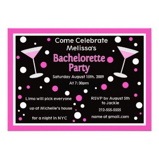 Cosmo Bachelorette Invite Zazzle