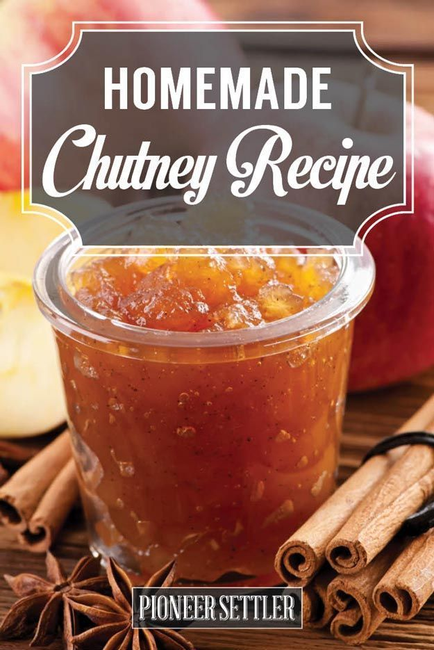 Apple Chutney Recipe   This Indian Inspired Side Dish Recipe Is Surely A Win For The Family - Apple In A Caramelized Onion, Divine! It's Great Gift Too! by Pioneer Settler at http://pioneersettler.com/chutney-recipe-homesteading/