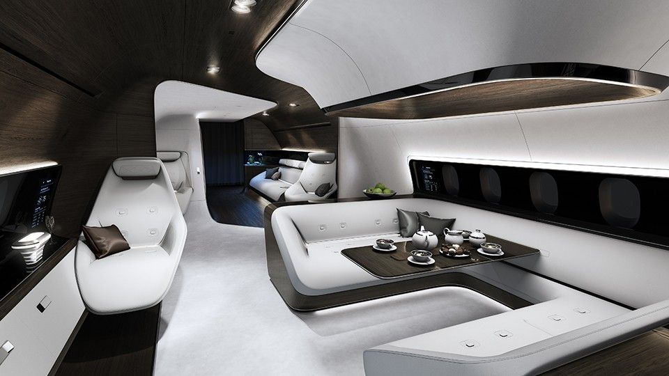 Mercedes Benz Designs Luxury Aircraft Interior For Lufthansa