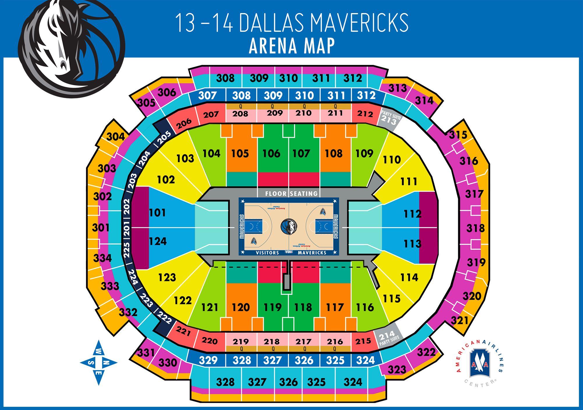 Arena Map Dallas Mavericks Miami Heat Tickets Houston Rockets Tickets