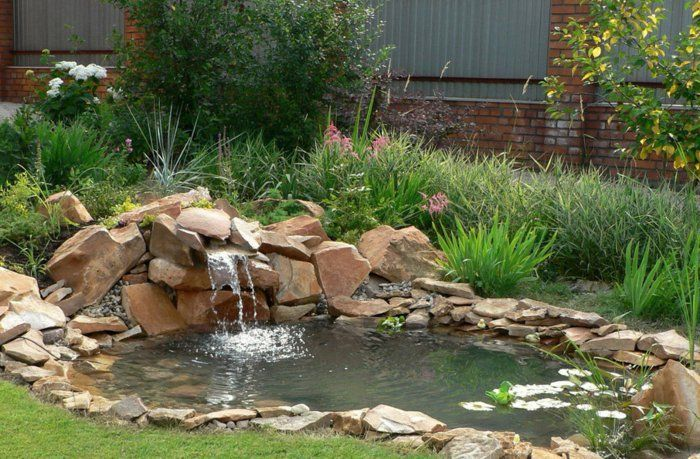 Wasserfall Im Garten Selber Bauen 99 Ideen Wie Sie Die Harmonie Der Natur Geniessen Wasserfall Garten Teich Wasserfall Wasserwand Garten