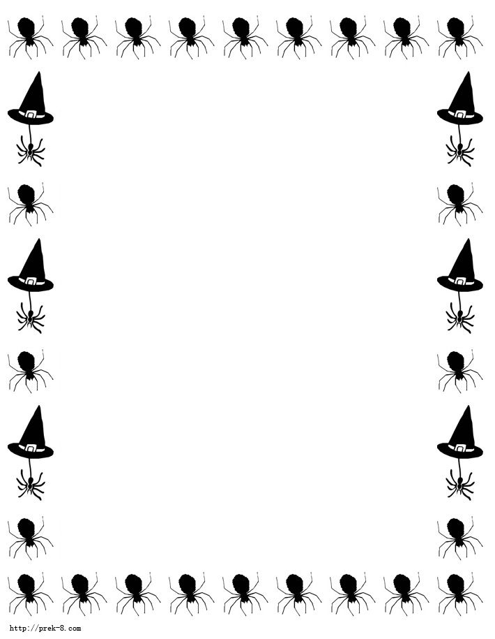 Halloween Border Templates Black And White