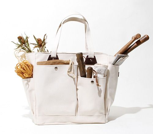 Hobo   Canvas No.6 Gardening Tool Bag Grommets