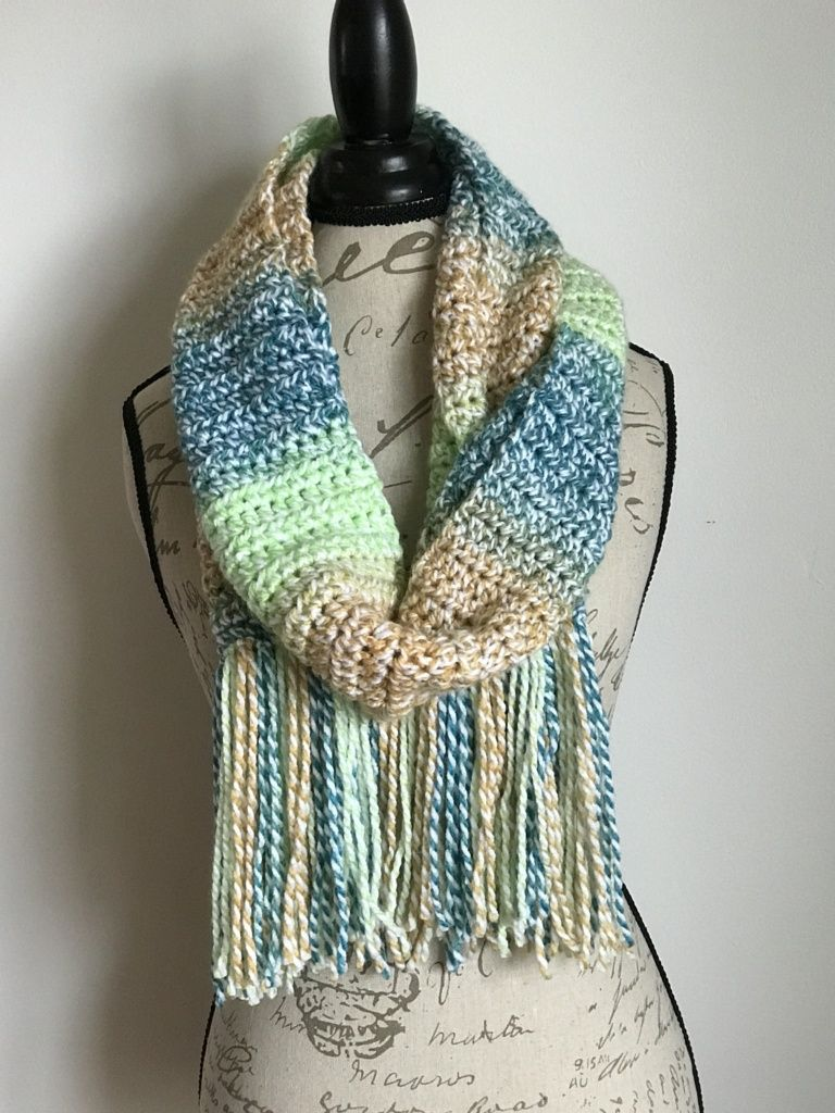 Daisy Days Scarf - free crochet pattern by Stitch Me In. Simple hdc ...