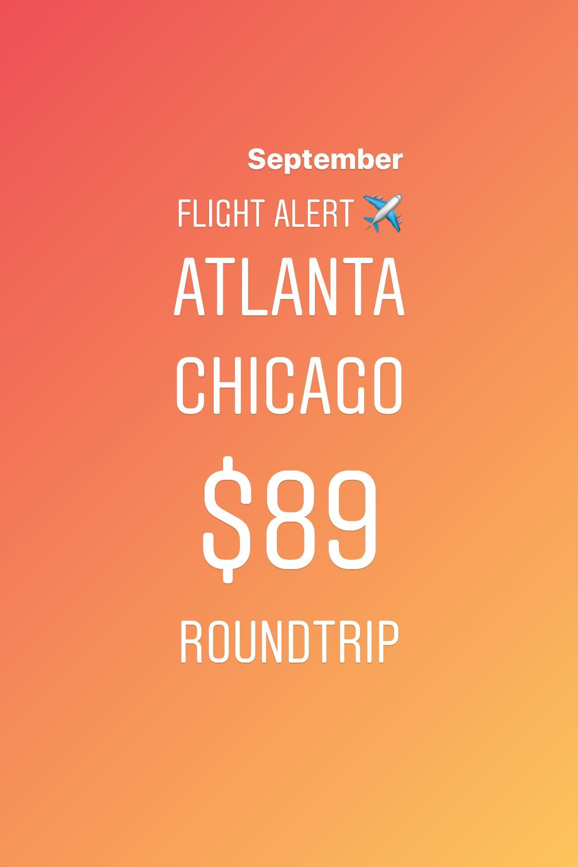 #Airfaredeals are time-sensitive. Spending at least an hour everyday monitoring flights for different dates is time-consuming. If you want to get a great price, you need to act fast and sign up for Flight Alerts to get the best airfare deals from your airport delivered to your phone. Get notified first about the best deals on flight tickets with Flight Alerts by Kobza Travel. Check the link in bio to start your #FREEtrial today. #flightalert #flightdeals #cheapflights#atlanta #chicago #roundtrip